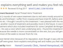 Thread Spider Vein Removal Hemel Hempstead at Hemel Cosmetic Clinic